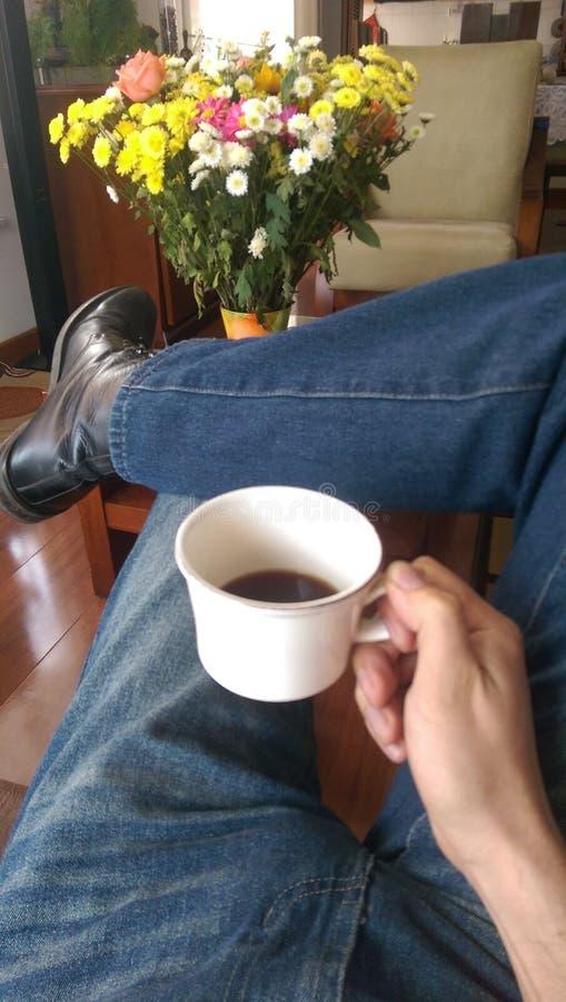 Cofee bebendo fotografia de stock royalty free