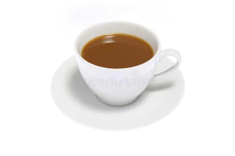 Cofee op Witte Achtergrond stock fotografie