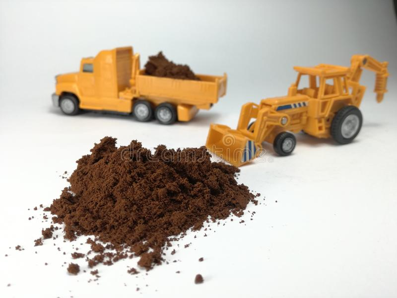 Cofee ou poudre de cacao images stock