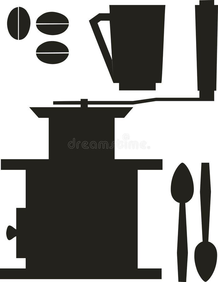 cofee set ilustracji