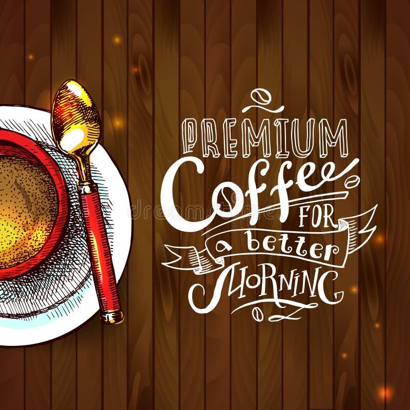 Cofee tło ilustracja wektor