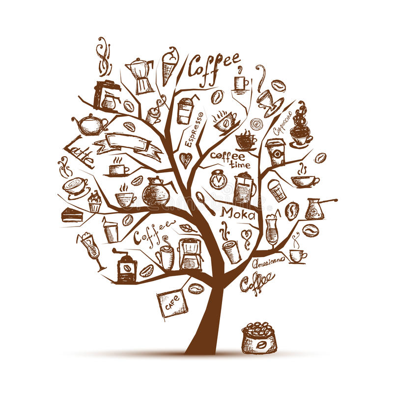 Download Cofee Time. Art Tree For Your Design Stock Vector - Image: 20886559