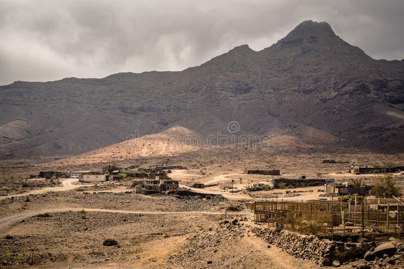 Cofete村庄- Jandia,费埃特文图拉岛,加那利群岛,西班牙 库存照片