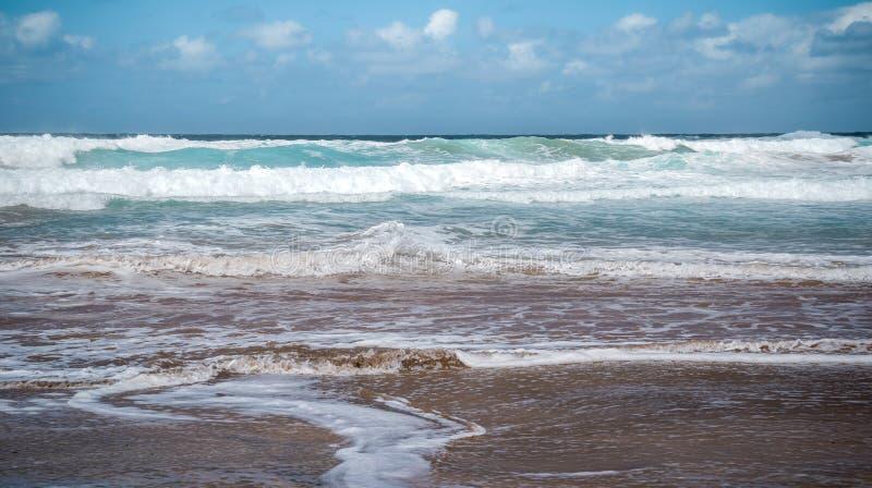 Cofete beach shore on the island of Fuerteventura Canary Islas royalty free stock photos