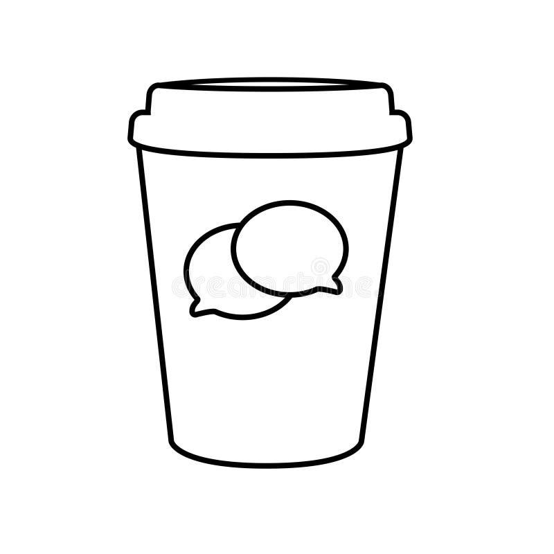 Coffe在白色背景的纸杯象 库存例证