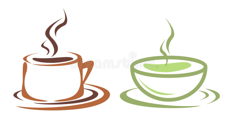 coffe杯子茶 向量例证