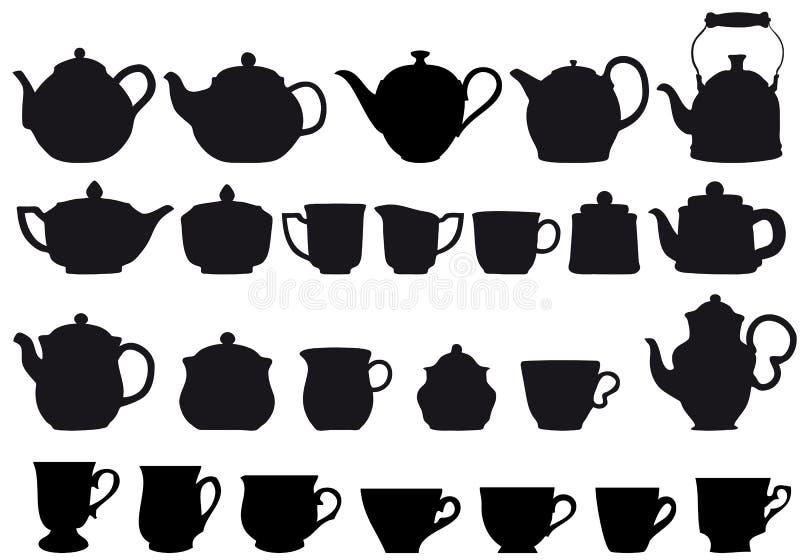 coffe茶 向量例证