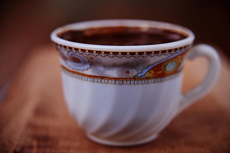 Coffe饮料杯子咖啡馆褐色 免版税库存图片