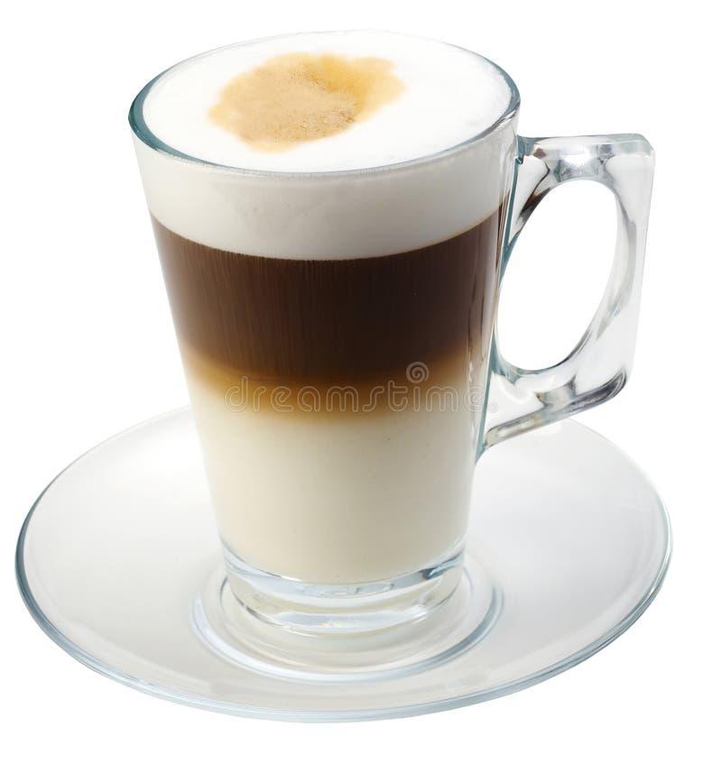Coffe aislado con leche imagenes de archivo