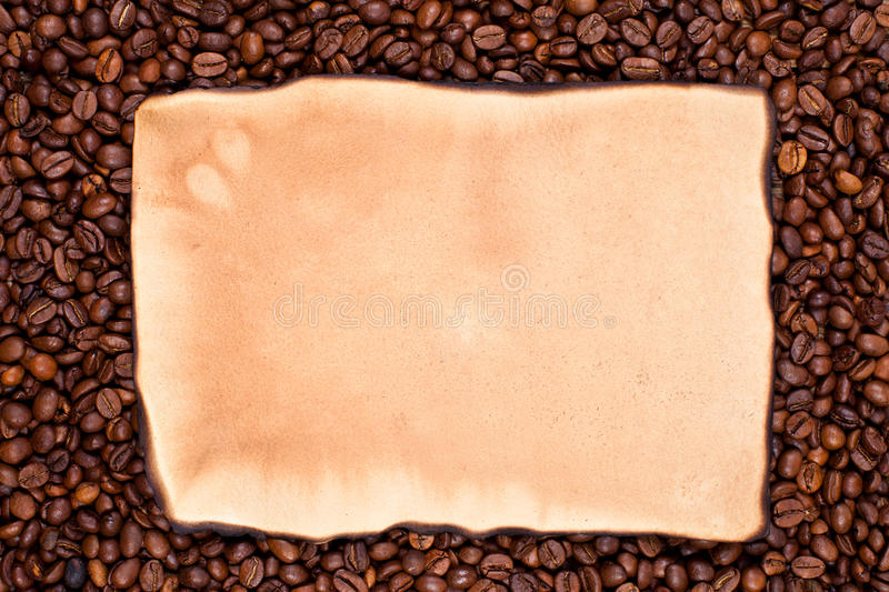 Coffe bean picture frame royalty free stock image