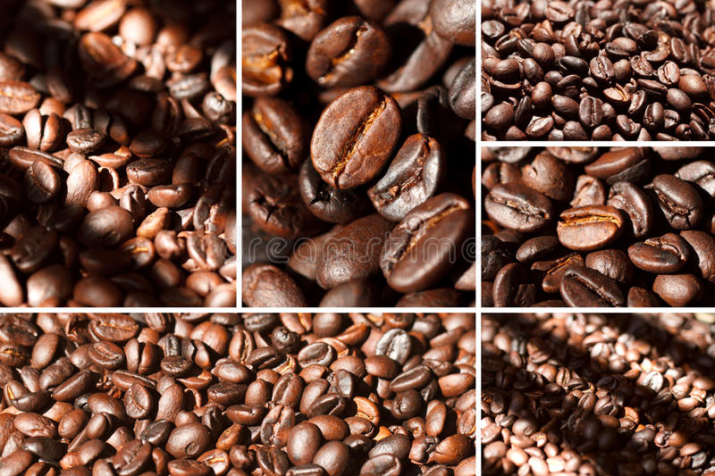 Coffe beans collage