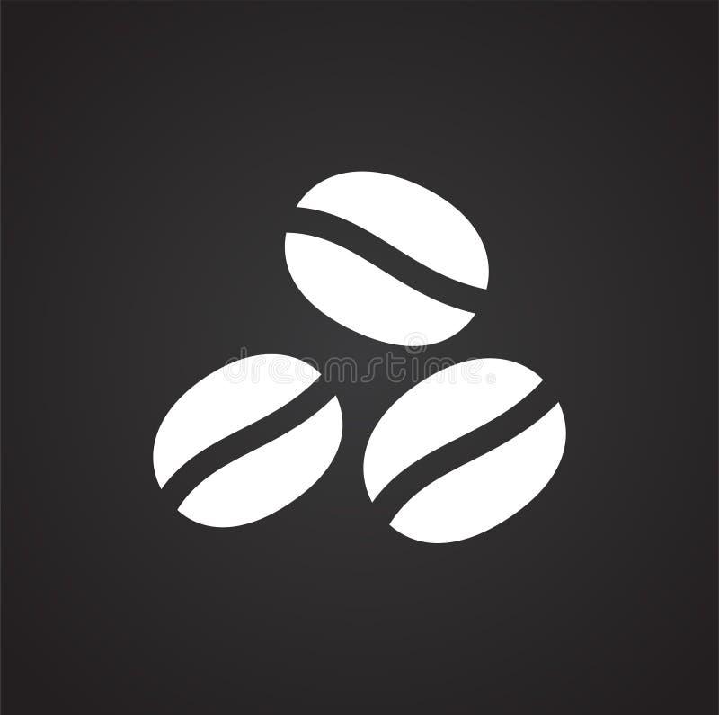 Coffe bezog sich Ikone auf Hintergrund für Grafik und Webdesign Einfache Abbildung Internet-Konzeptsymbol f?r Website lizenzfreie abbildung