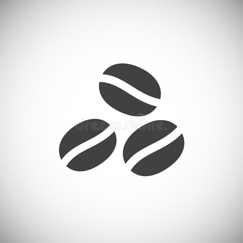 Coffe bezog sich Ikone auf Hintergrund für Grafik und Webdesign Einfache Abbildung Internet-Konzeptsymbol f?r Website vektor abbildung