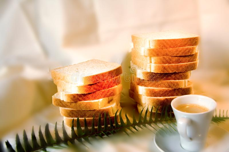 Coffe And Bread Free Stock Image