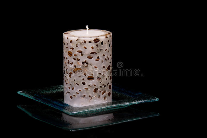 Coffe And Candle Royalty Free Stock Images