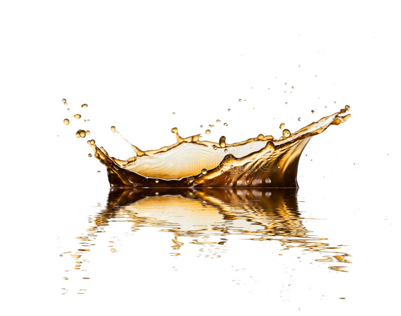 Coffe or cola splash royalty free stock photos