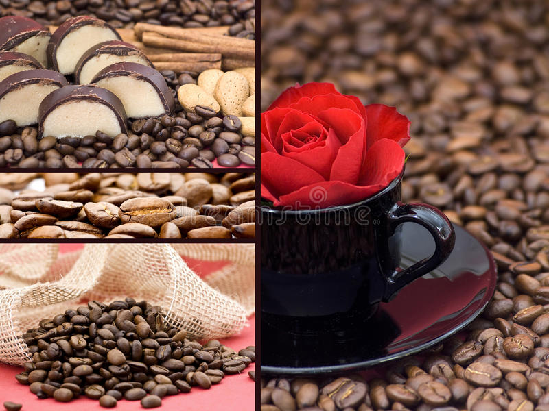 Coffe collage royalty free stock photo