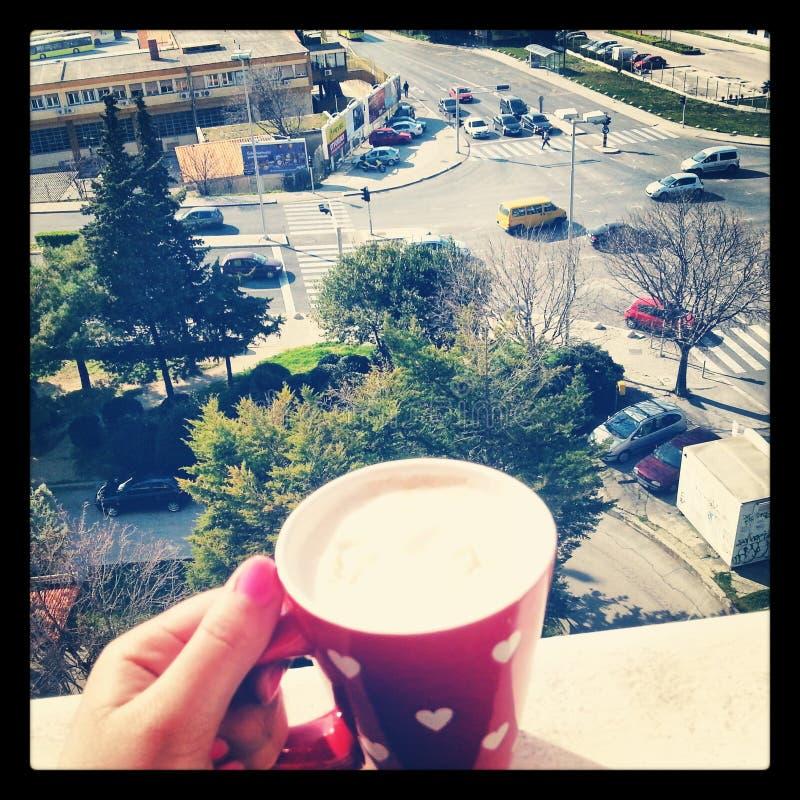 Coffe con crema imagen de archivo