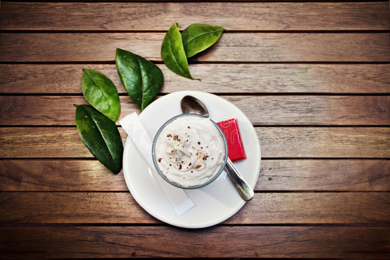 Coffe with cream royalty free stock images