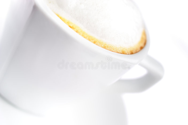 Coffe Cup. Cup of coffee with coffee grain royalty free stock photos