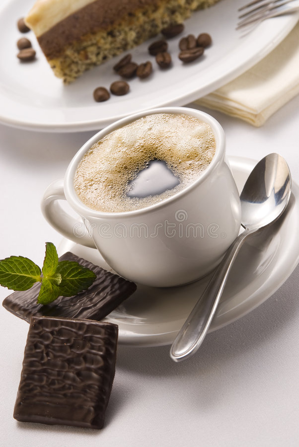 Download Coffe cup stock photo. Image of drink, mint, reflection - 7430188