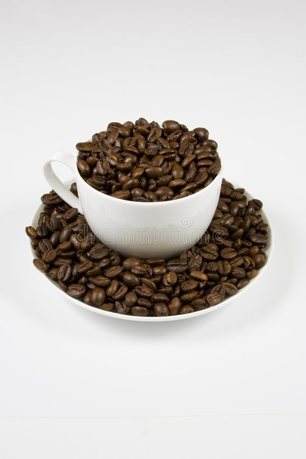 Coffe Cup Of Beans Royalty Free Stock Photography