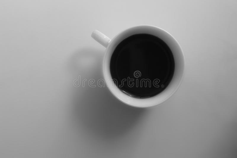 Coffe cup. Black and white coffe cup on a white background royalty free stock images