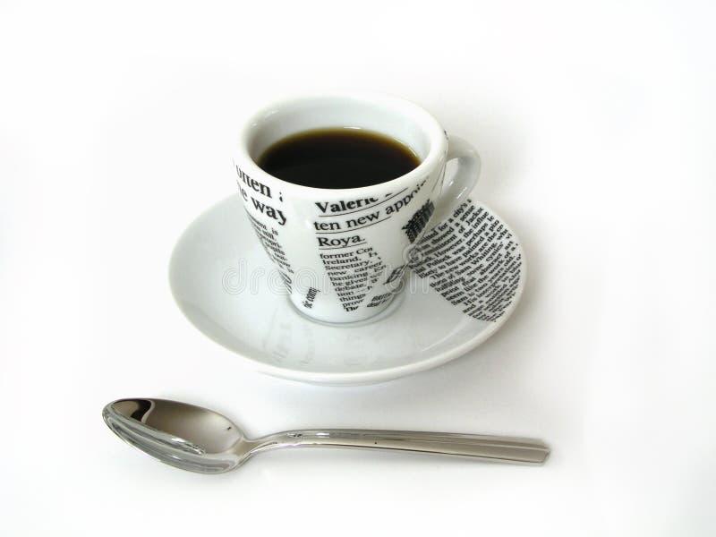 Coffe Cup mit Löffel stockbild