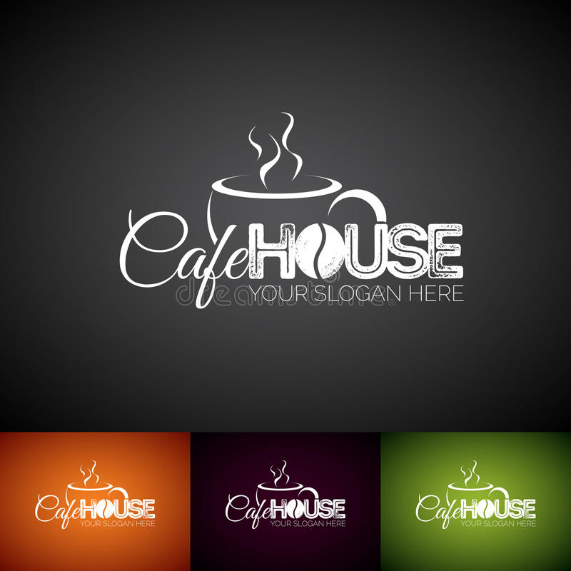 Coffe Cup Vector Logo Design Template. Set of Cofe Shop label illustration with various color. vector illustration