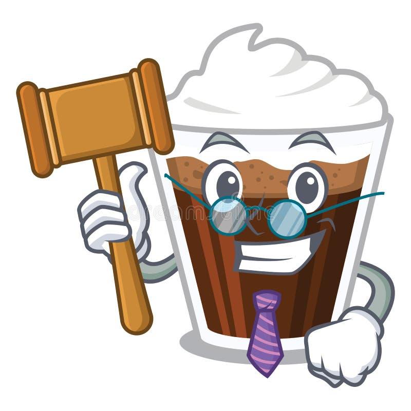 Coffe de Irish do juiz na forma de caráter ilustração stock