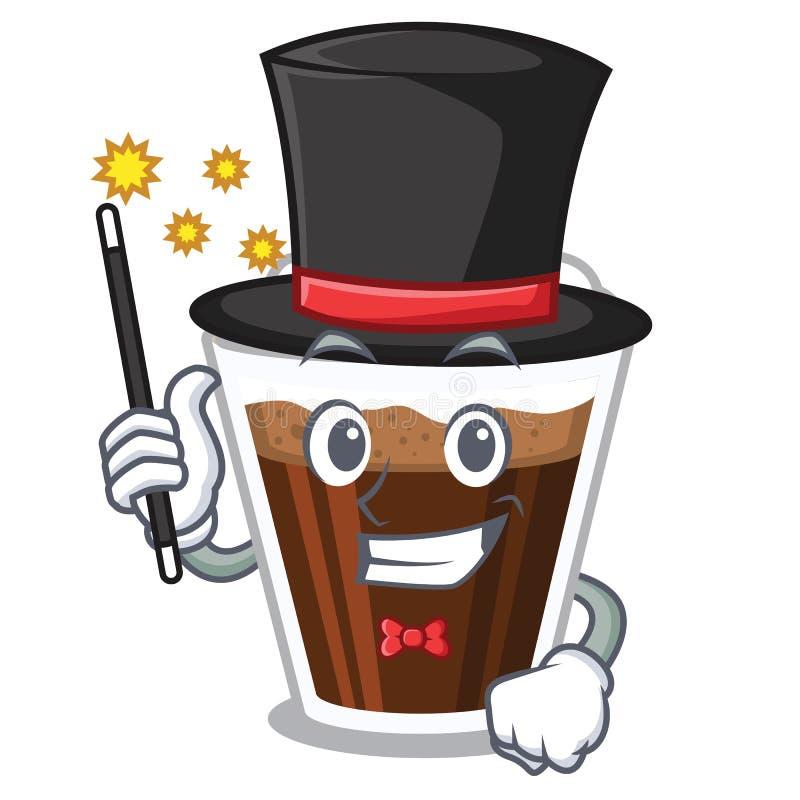 Coffe de Irish do mágico na forma de caráter ilustração royalty free