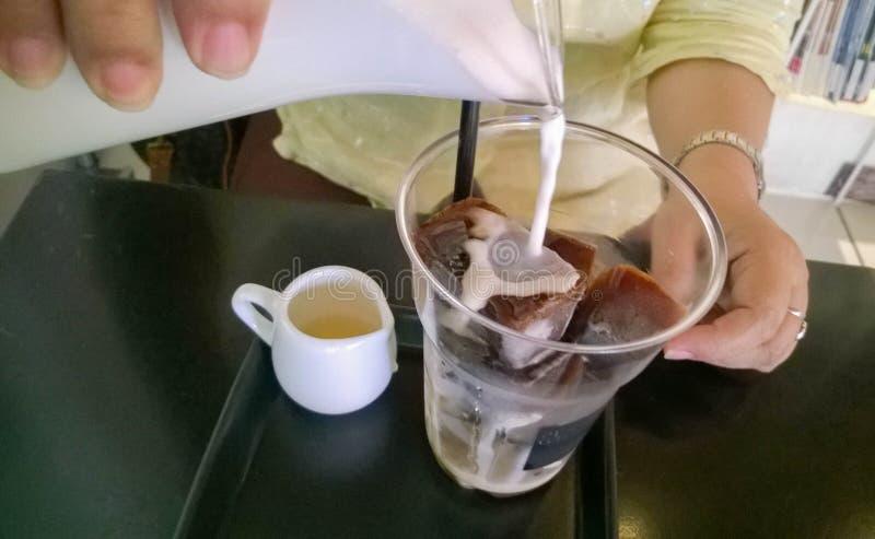 Coffe del latte del ghiaccio immagini stock