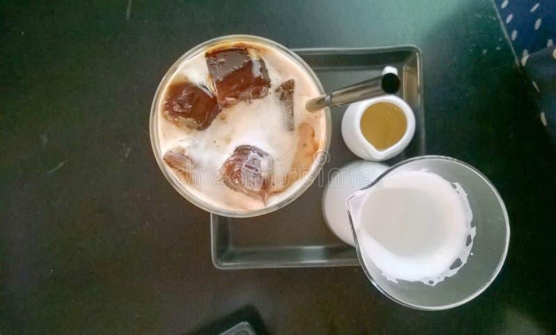 Coffe del latte del ghiaccio fotografia stock