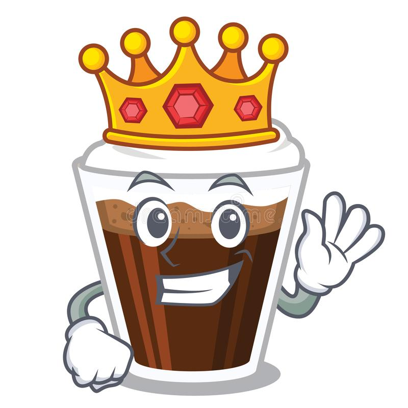 Coffe do rei Irish na forma de caráter ilustração royalty free