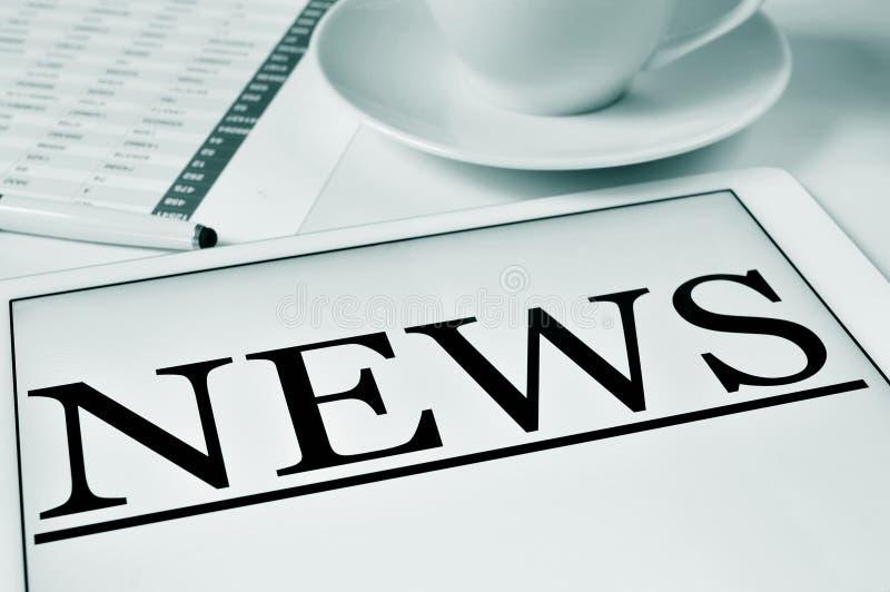 Coffe e notícia imagens de stock