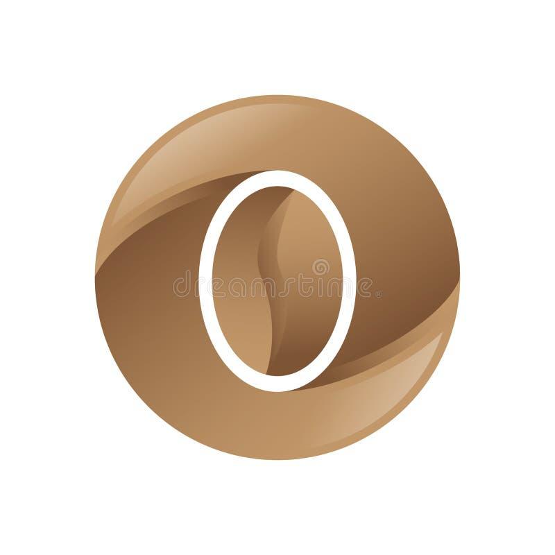 Coffe ekstrakta Brown logo wektor royalty ilustracja