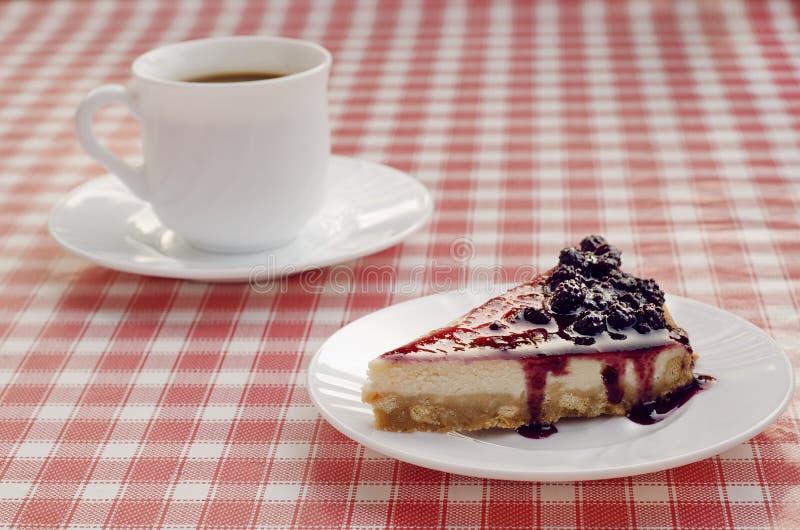 Coffe en dessert royalty-vrije stock foto
