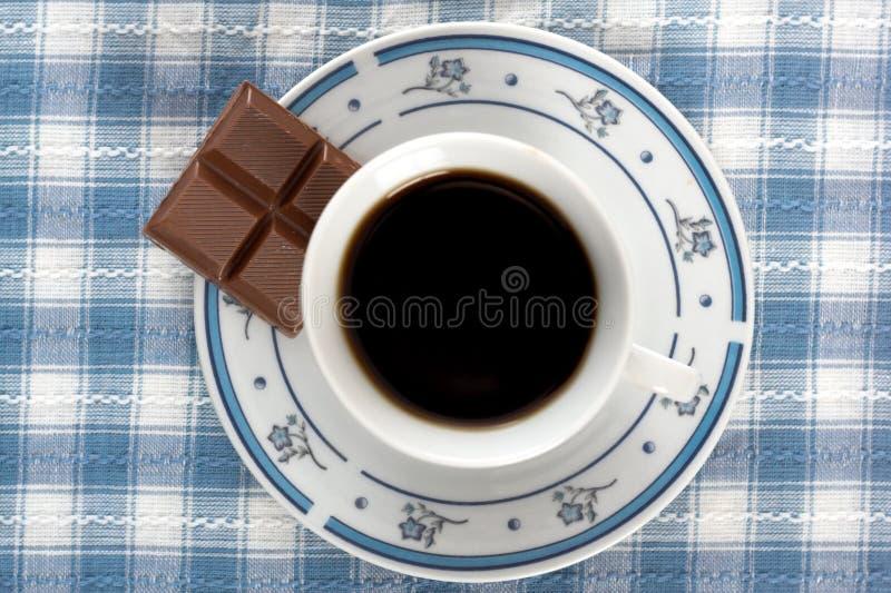 Coffe et vue de chocolat première photo stock