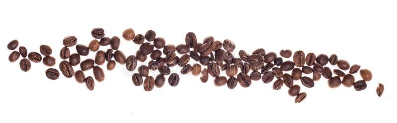 Coffe fasole nad białym tłem obrazy royalty free