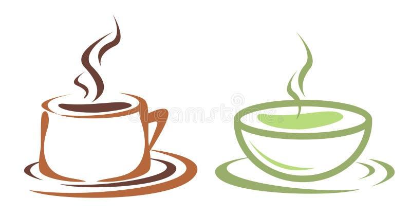 coffe filiżanki herbata ilustracja wektor