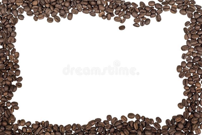 Coffe frame on white background stock photos