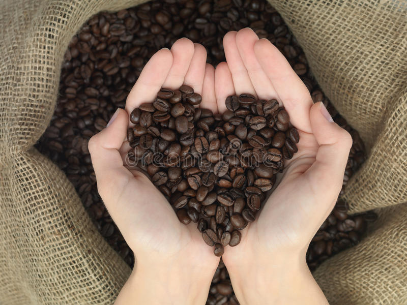 Download Coffe heart shape stock photo. Image of coffee, cafe - 28263412