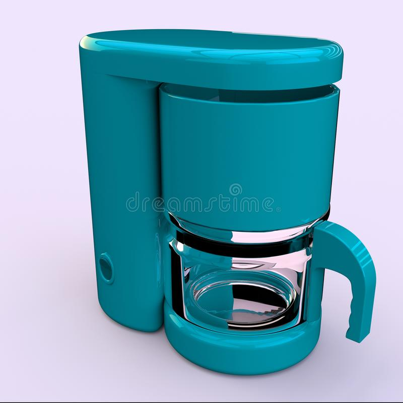 Coffe-Hersteller stock abbildung