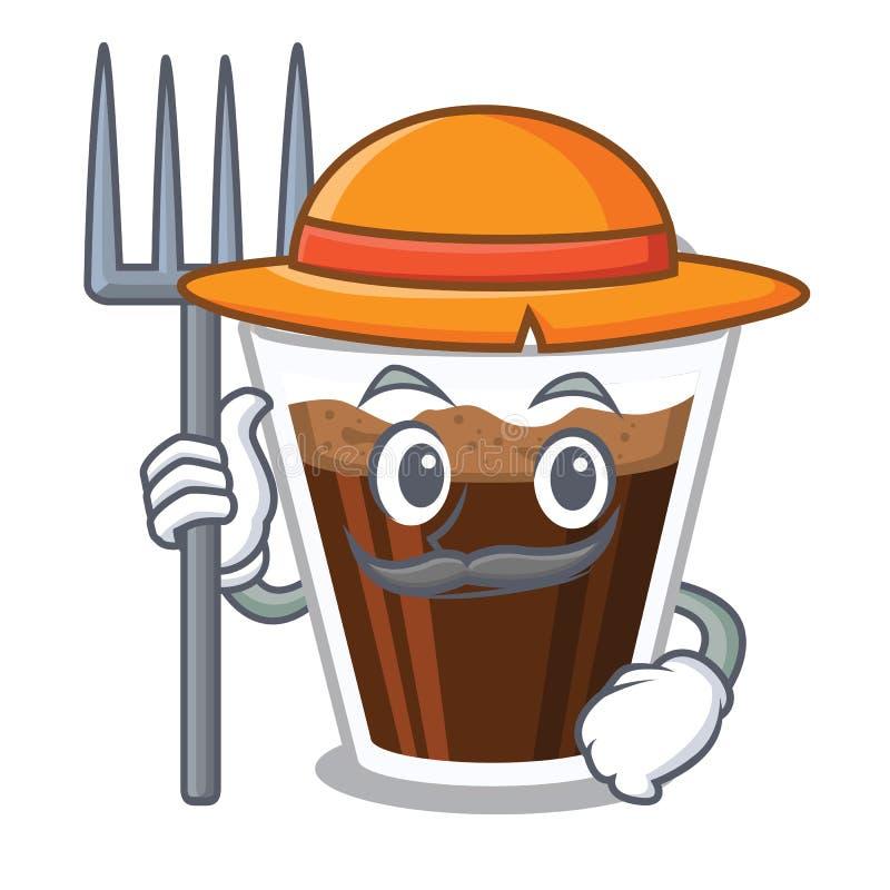 Coffe irlandês do fazendeiro isolado com os desenhos animados ilustração do vetor