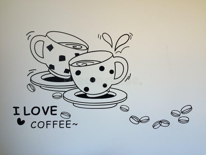 Coffe kochankowie royalty ilustracja