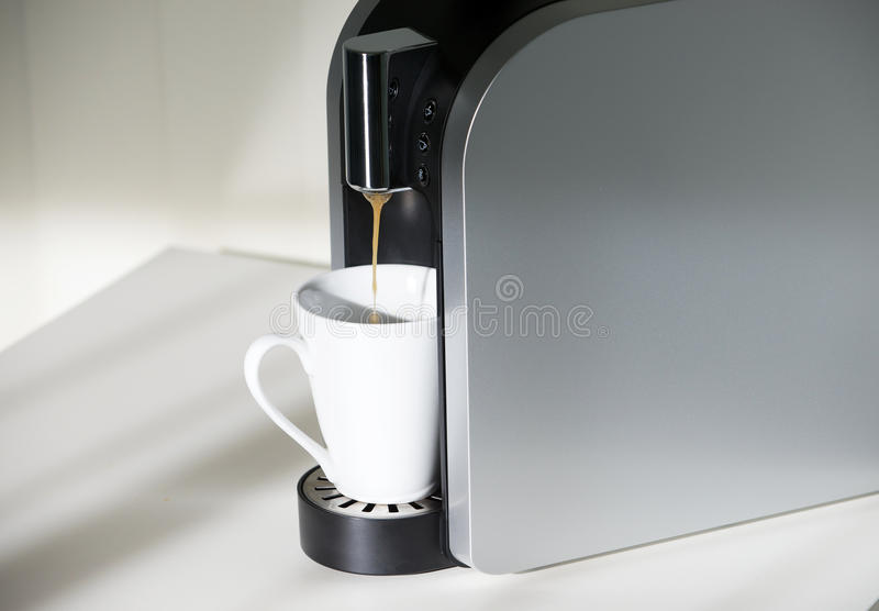 Download Coffe machine stock image. Image of gourmet, cappuccino - 25265415