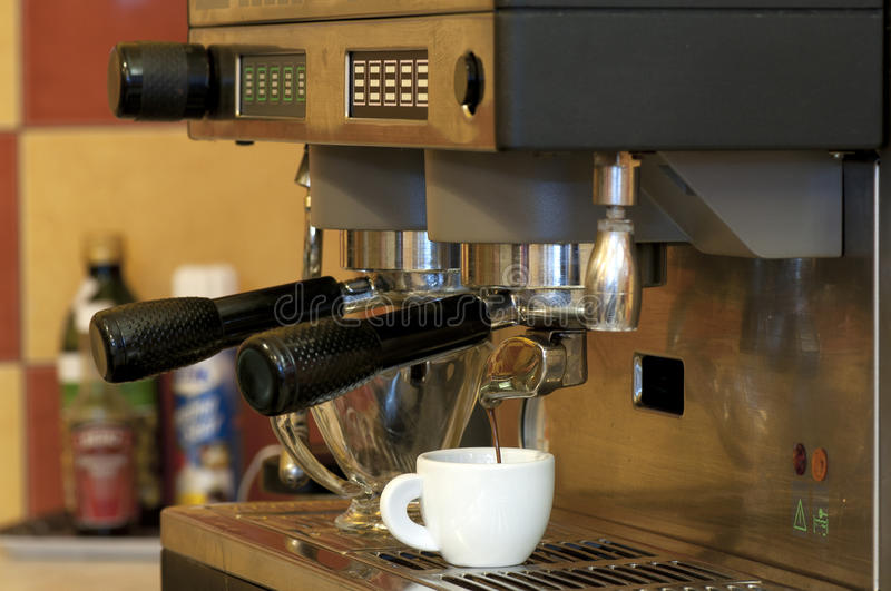 Coffe Maker. In the restaurant stock photos