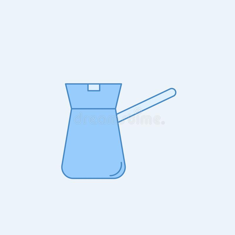 Coffe maker 2 colored line icon. Simple blue and white element illustration. coffe maker concept outline symbol design from kitche. N set on light background stock illustration