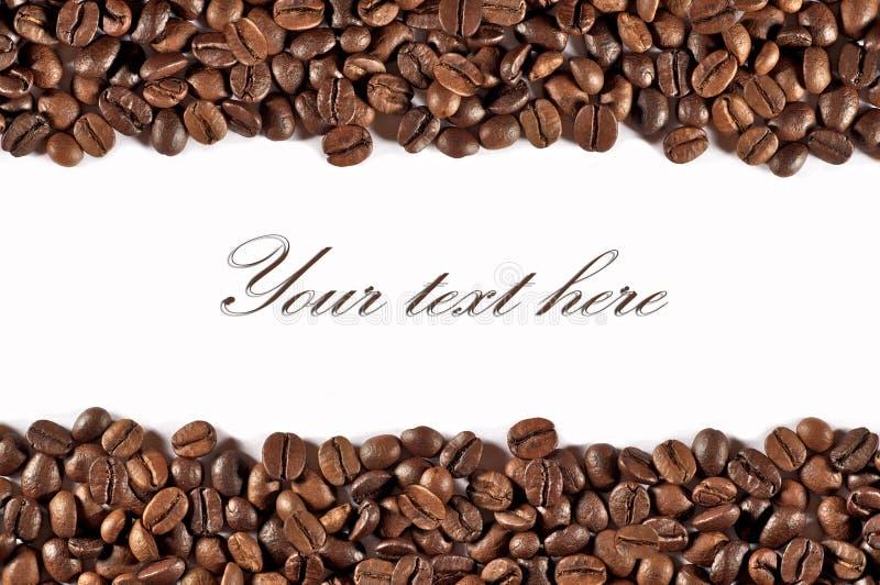 Coffe Motiv auf weißem Hintergrund lizenzfreies stockbild