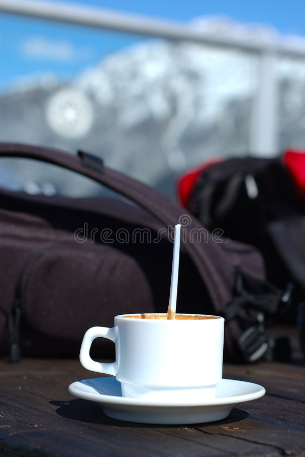 Coffe on the Mountain stock images